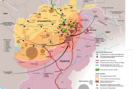 map of afghanistan war