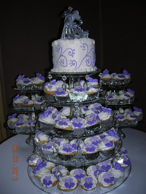 Particular Cupcake Wedding Cake On Cake Central Cupcake Wedding Cake Cupcake Wedding Cake Recipes Cupcake Wedding Cake S