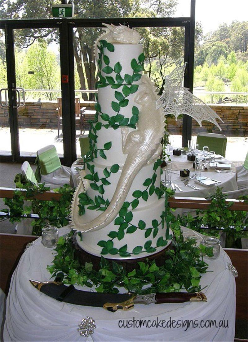 Large Of Dragon Wedding Cake