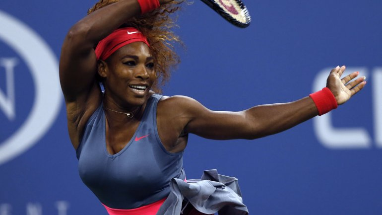 Toda la potencia deSerena,arrolla con un tenis preciso y con un físico muy desarrollado