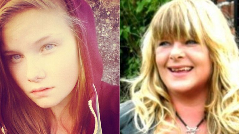 Lisa Borch y su madre, a la que asesinó a puñaladas