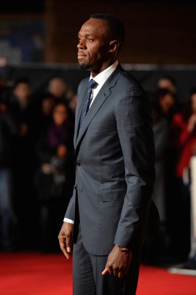 Usain Bolt, lors de sa grande première pour son documentaire I Am Bolt
