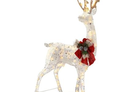 cottoon string glitter reindeer