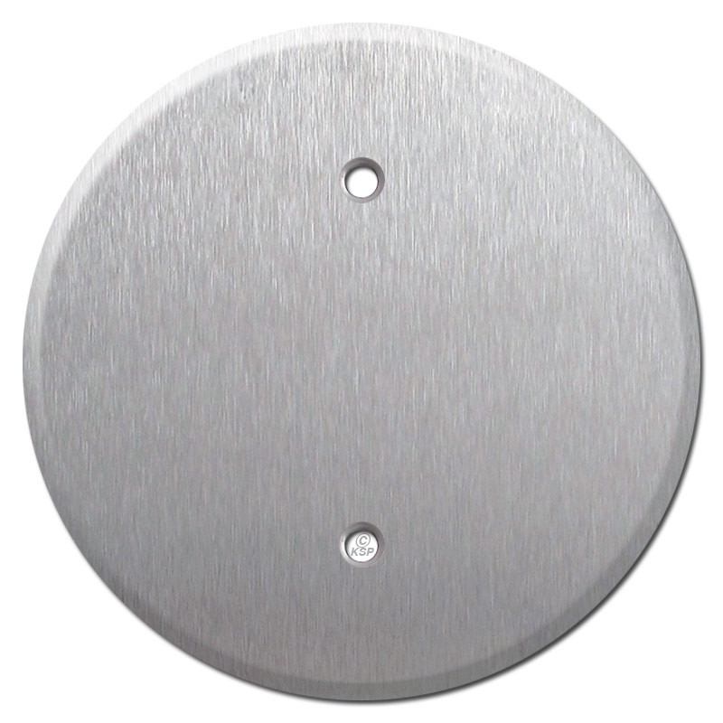 Round Ceiling Blank Outlet Covers For 3 25 Bo Stainless Steel