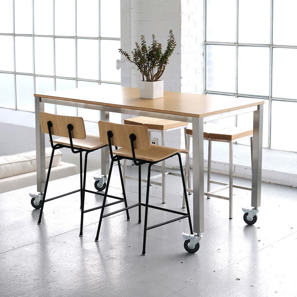 Gus Modern Niagara Rectangular Kitchen Counter work Tables table  20912.1373598753.1280.1280