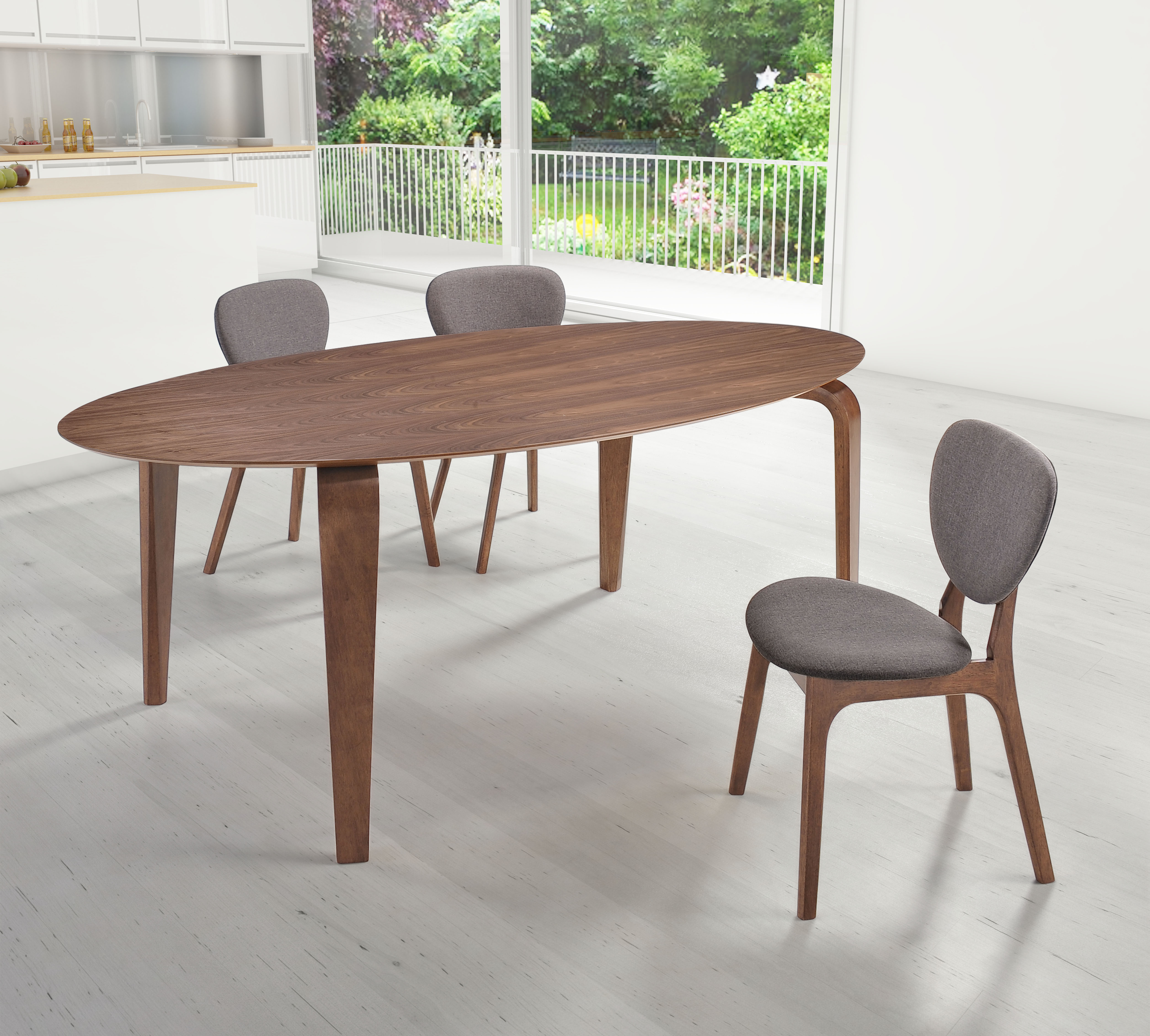 midcentury classic dining sets from zuo modern mid century kitchen table Virginia Key Table