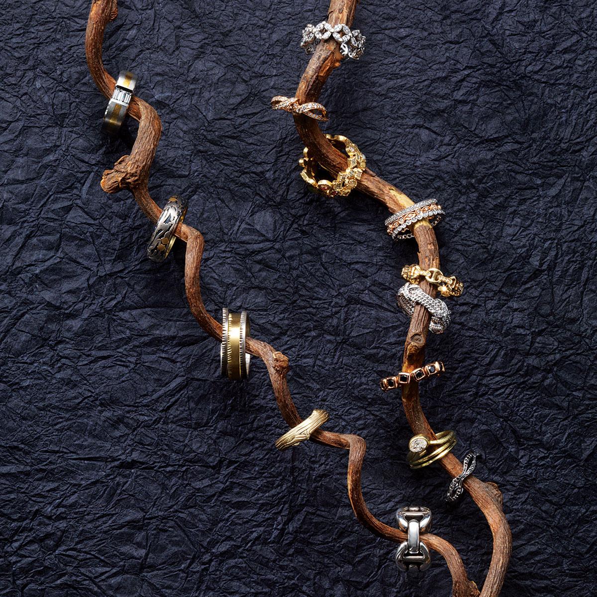 unique rings black diamonds branches unique wedding rings