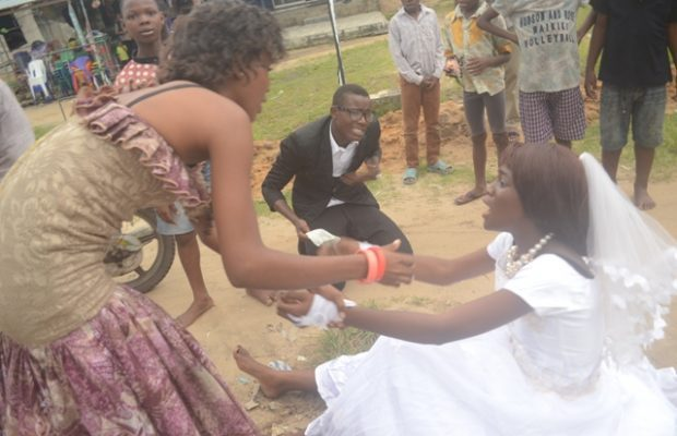 Bride runs out of wedding reception