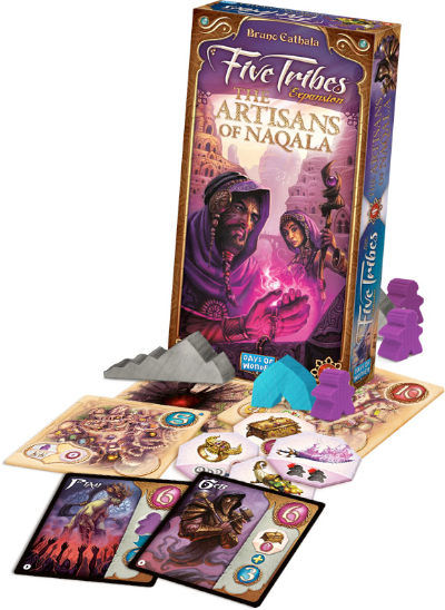 Caja de componentes de Five Tribes: The Artisans of Naqala