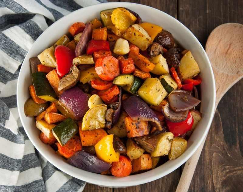 Large Of Roasted Vegetables With Balsamic Vinegar