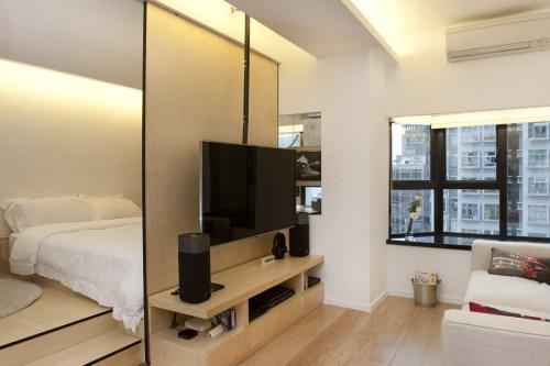 Medium Of Bed In Living Room Designs
