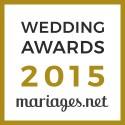 Fanny Reynaud Photographe, gagnant Wedding Awards 2015 mariages.net