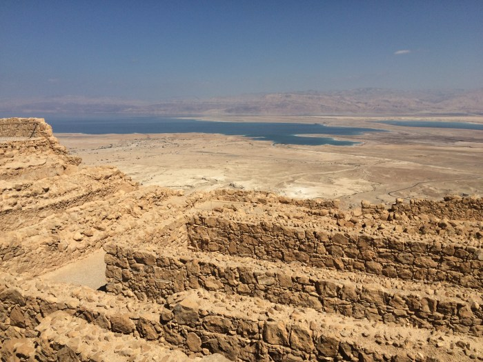 View from Masada toward the Dead Sea
