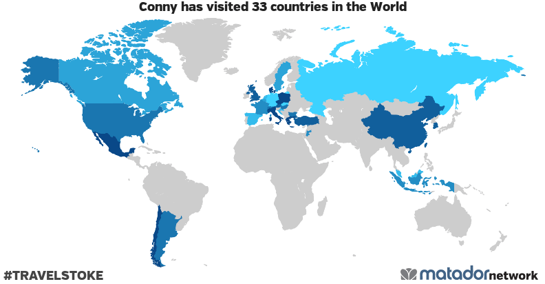 Conny's Travel Map