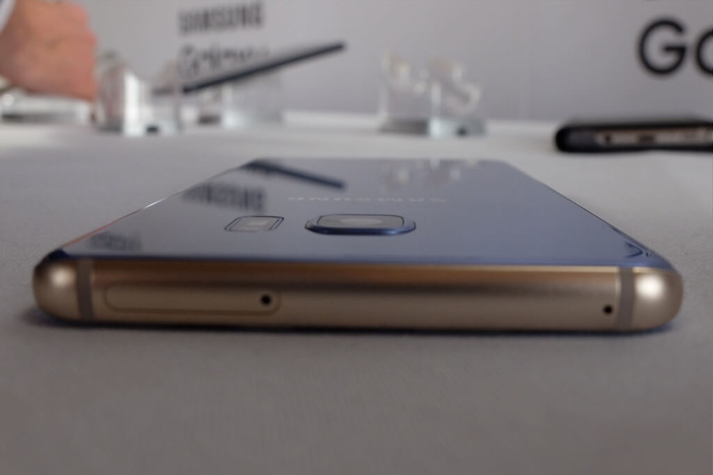 Samsung Galaxy Note 7 azul camara grosor