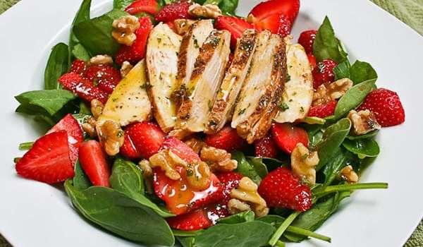 Bid Winter Adieu with Spinach-Strawberry Salad