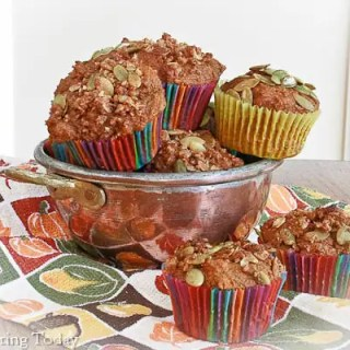 Pumpkin Pie Spice Sprouted Wheat Muffins