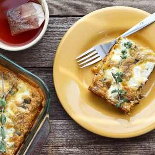 Butternut Squash Quiche with Italian Sausage and Sage Plated |Savoring Today