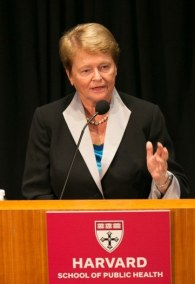 """Global health is linked to human rights. It's linked to education... It's also linked to the envrionmental concerns that we are creating in the way we are dealing, as human beings, with each other and with the planet."" --Gro Harlem Brundtland, MPH '65"
