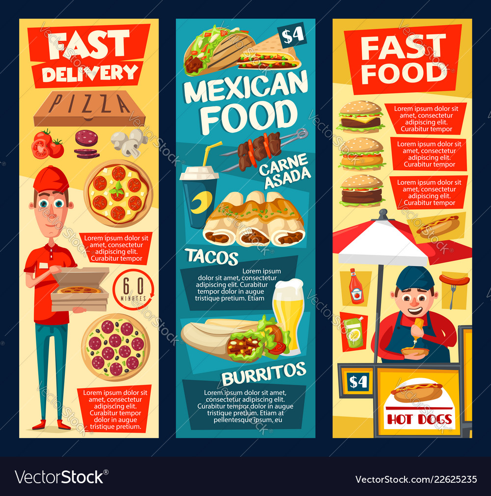 Favorite Fast Food Hot Dog Vendor Pizza Tacos Vector 22625235 Hot Dog Vendor Costume Diy Hot Dog Vendor Names nice food Hot Dog Vendor