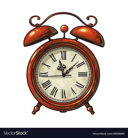 Medium Of Old Fashioned Alarm Clock