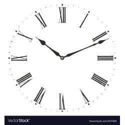 Small Crop Of Roman Numerals Clock