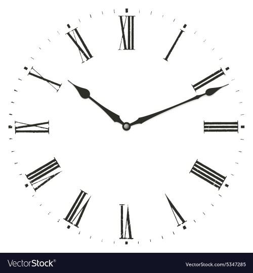 Medium Of Roman Numerals Clock