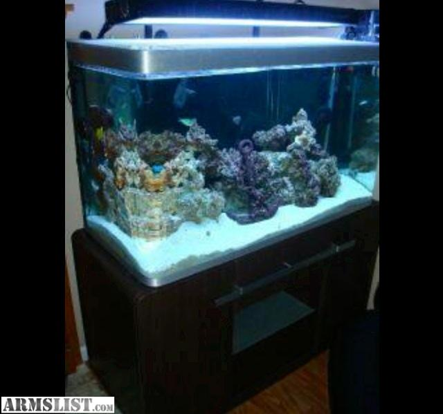 ARMSLIST   For Sale/Trade: 90 gallon acrylic fish tank with stand and