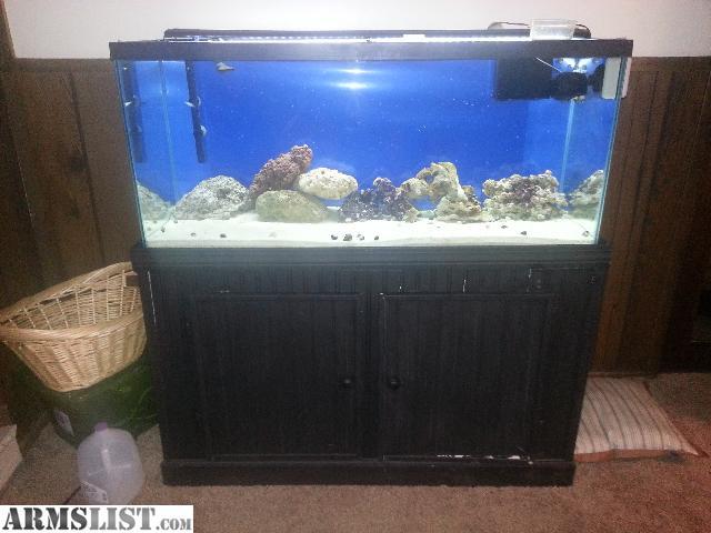 ARMSLIST   For Sale/Trade: complete 75 gallon saltwater aquarium setup