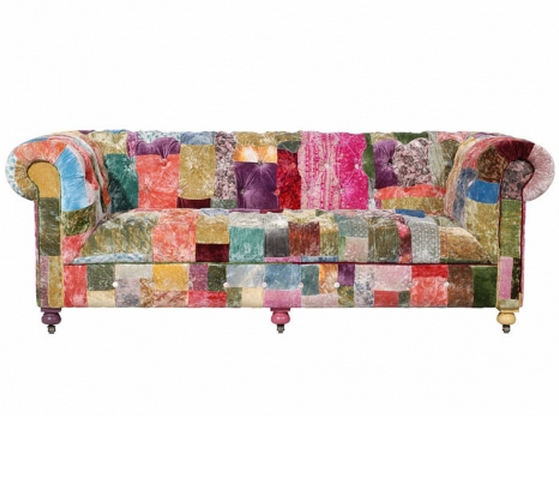 Patchwork sofa inspiration the brightness project for Patchwork couch