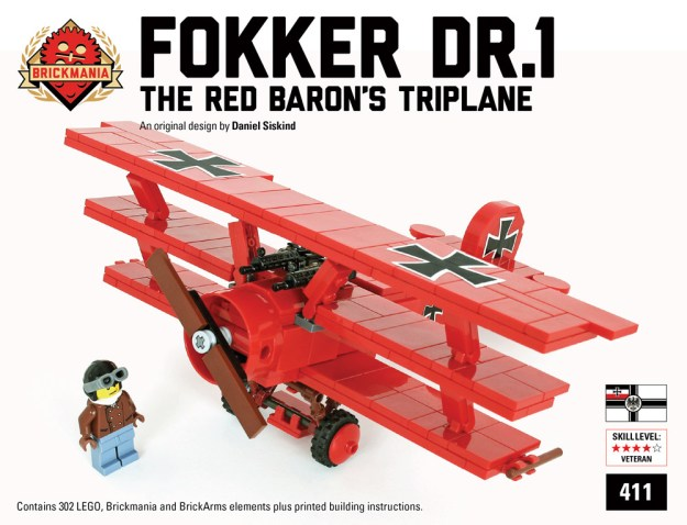 Brickmania Fokker Dr.1 custom kit