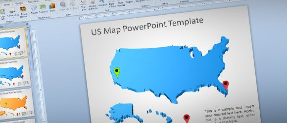 Maps For PowerPoint Features SmileTemplatescom Presentation