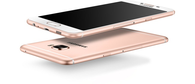 Samsung Galaxy C5 en color rosado