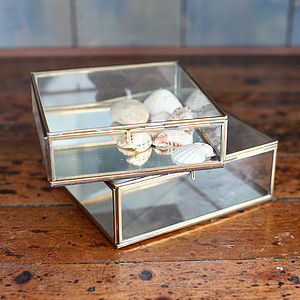 Mirrored Glass Box