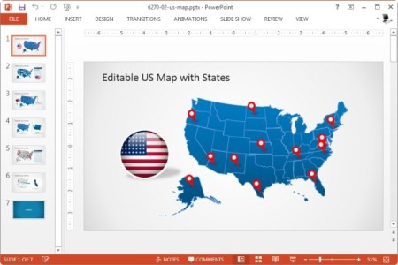 US Map For PowerPoint Presentations Free PowerPoint Maps Of USA - Powerpoint usa map