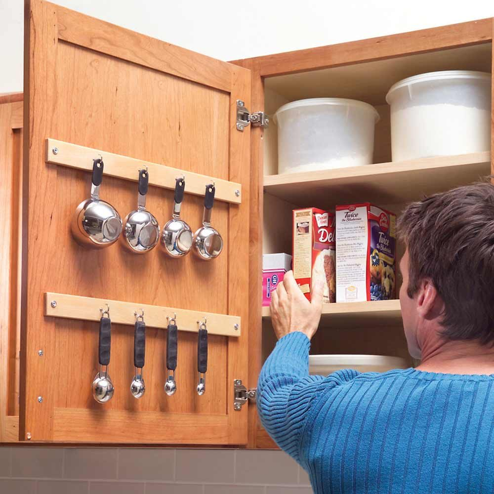 quick and clever kitchen storage ideas kitchen organization ideas Measuring Cup Hang Up