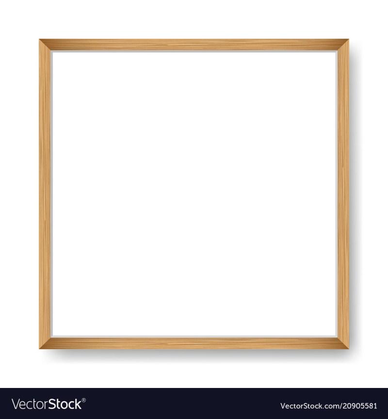 Eye Square Blank Frame Template Vector Image Square Blank Frame ...