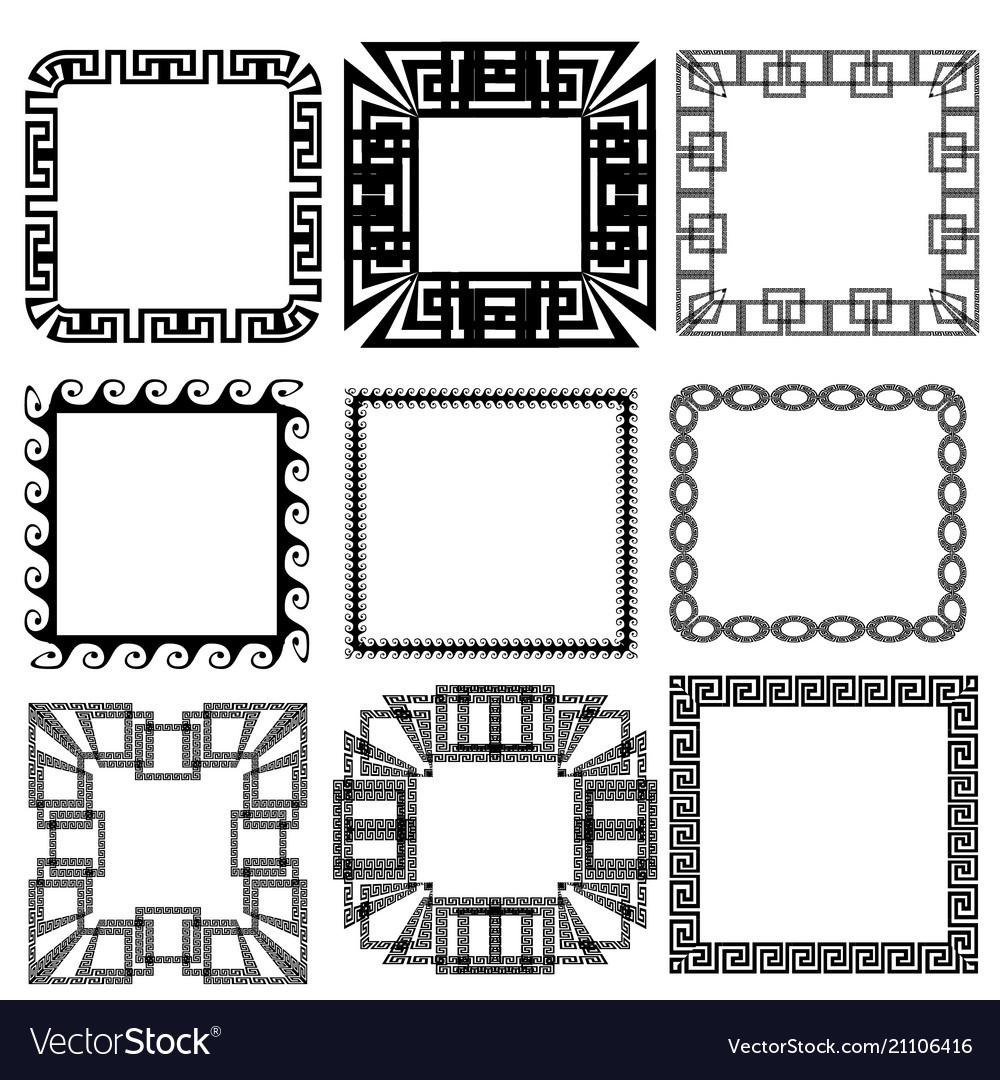 Fashionable Square Greek Key Meander Border Frame Patterns Set Vector Image Square Greek Key Meander Border Frame Patterns Set Greek Key Pattern Meaning Greek Key Pattern Stencil houzz 01 Greek Key Pattern