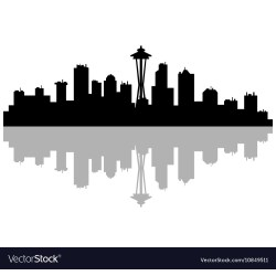 Small Crop Of Seattle Skyline Outline