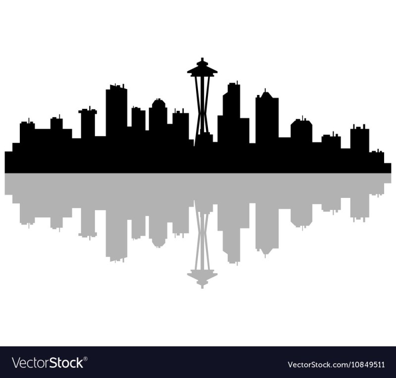 Large Of Seattle Skyline Outline