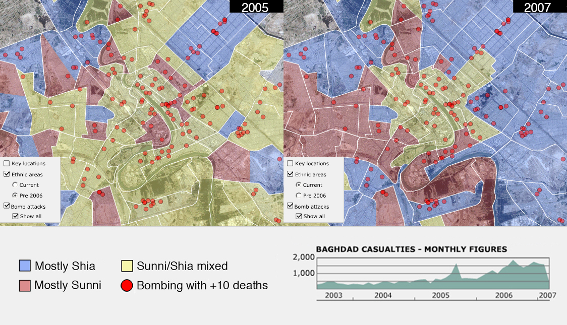 27 maps that explain the crisis in Iraq   vox com The ethnic cleansing of Baghdad