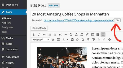Changing post slug in WordPress