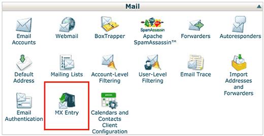 MX Entry menu