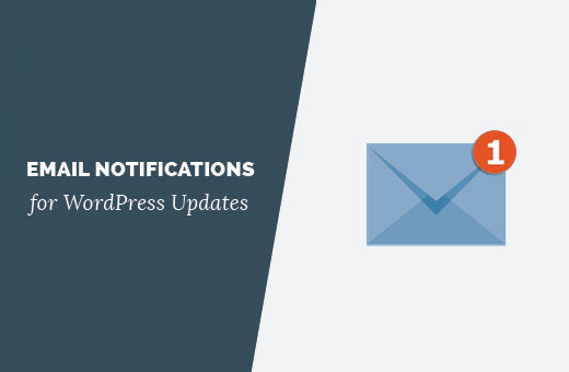 Email notifications for WordPress updates