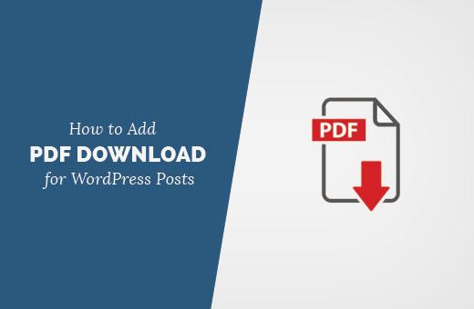 Adding PDF download option for WordPress posts
