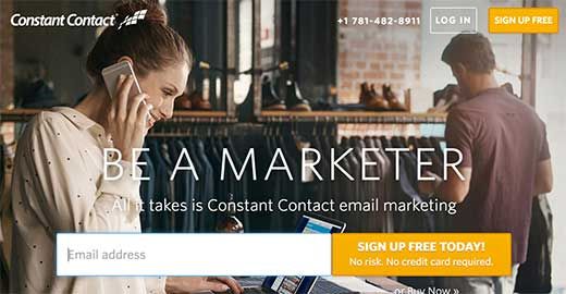 Sign up for a Constant Contact account