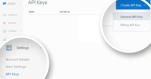 Get API Key for SendGrid