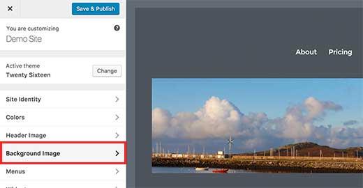 Adding a custom background image in WordPress