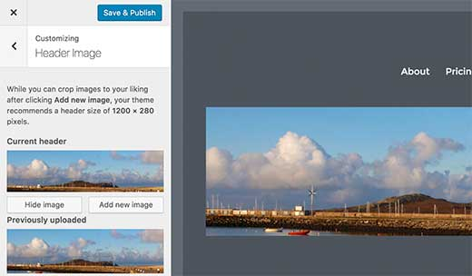 Adding a header image to your WordPress theme