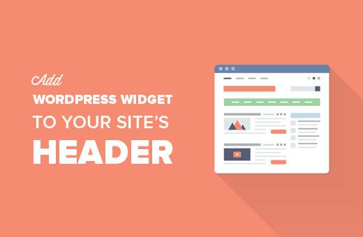 Add a WordPress widget to your site's header